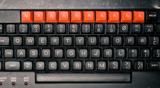retro computer keyboard