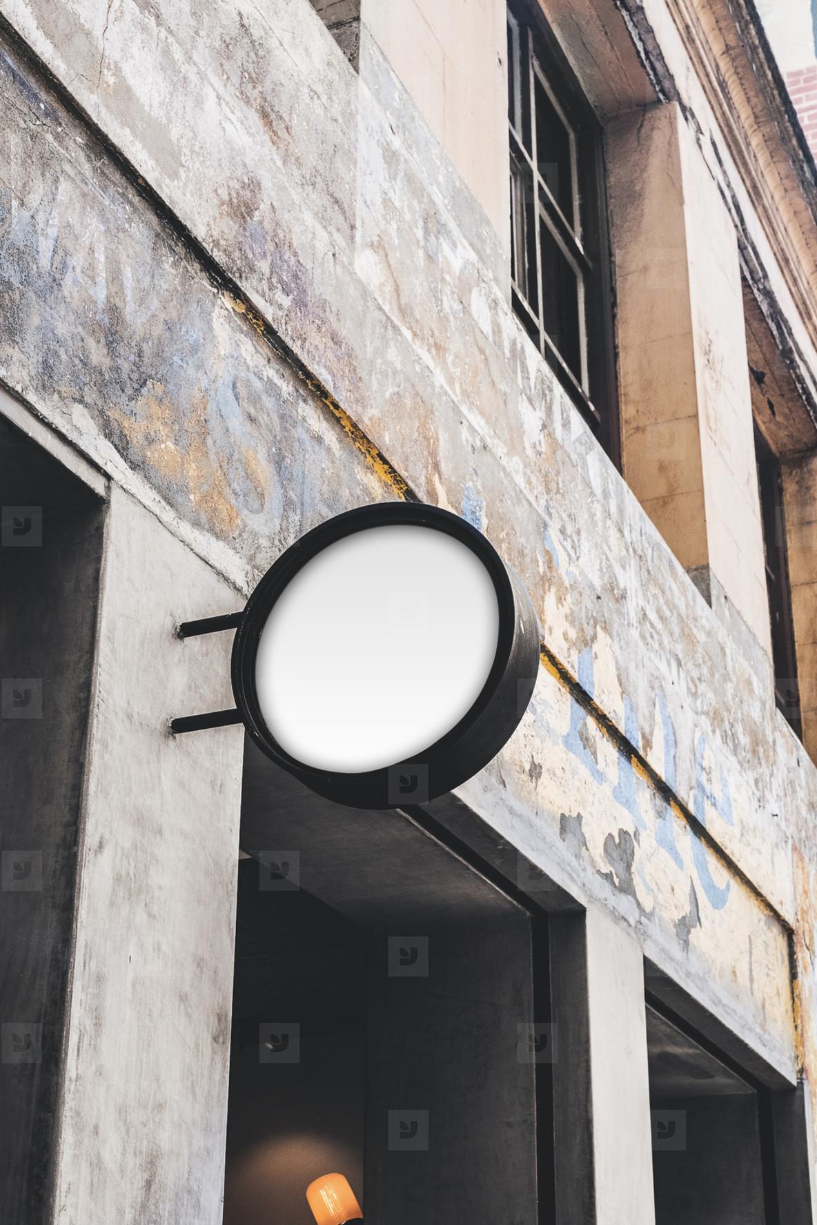 cafe signage mockup