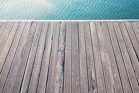 old wood bridge pier