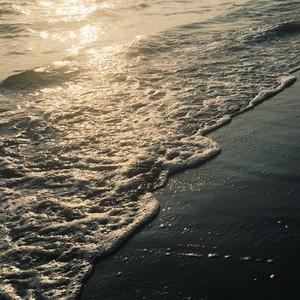 Beach on sunset time