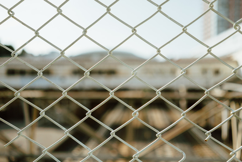 White steel wall mesh