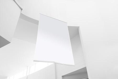 blank advertising poster