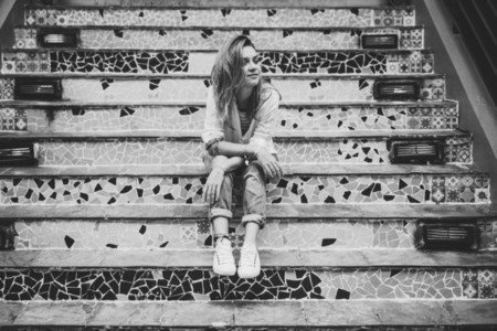 girl on the steps