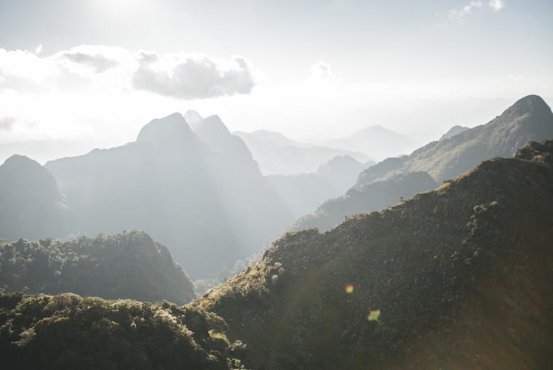 View of mountains range