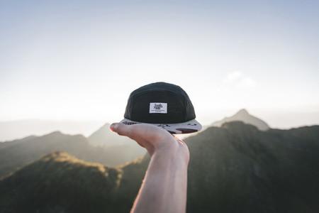Black cap on peak of mountains