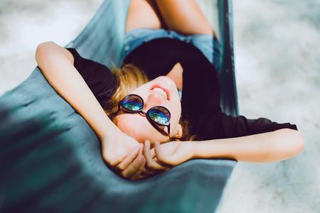 young beautiful girl in sunglass