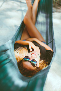 young beautiful girl in sunglass