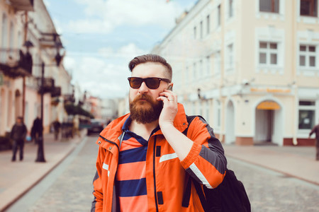 Young man beard portrait