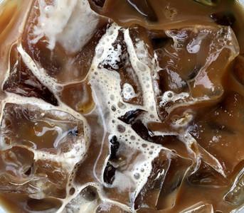 Closeup of iced coffee