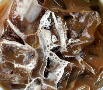 Closeup of iced coffee