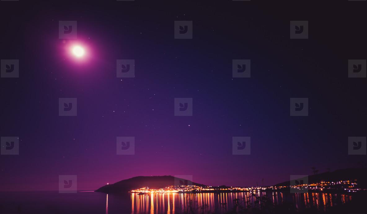 night sky at the coast