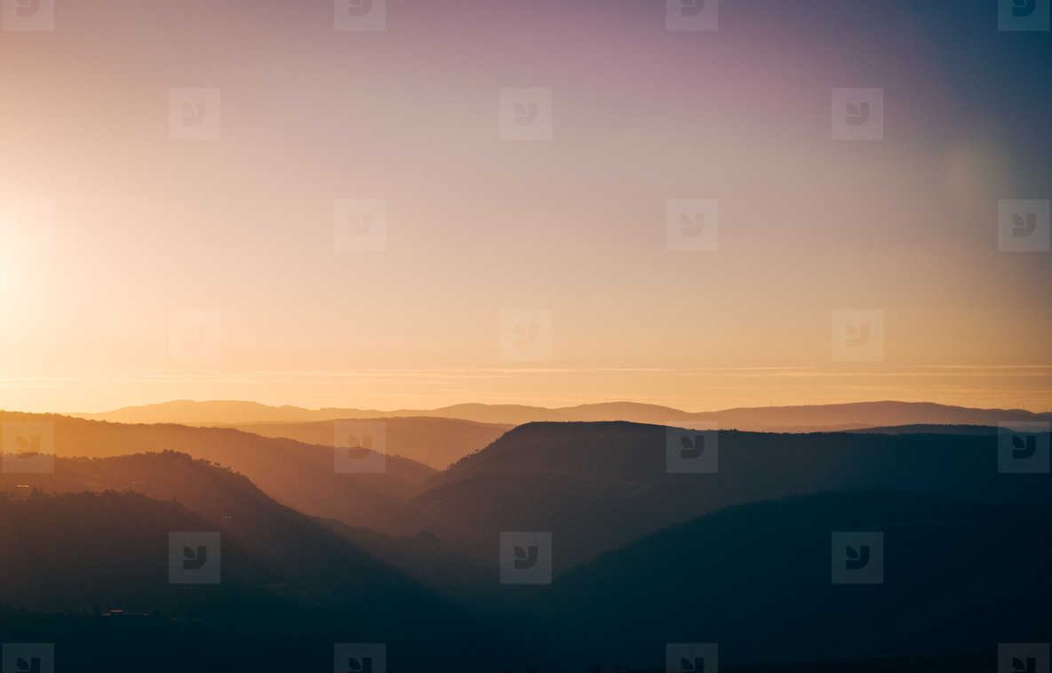sunglow over the mountains