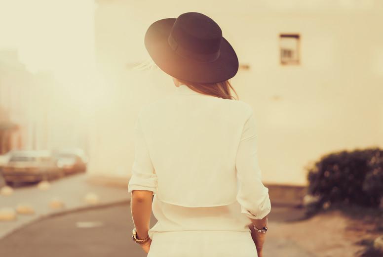 Sunset woman portrait