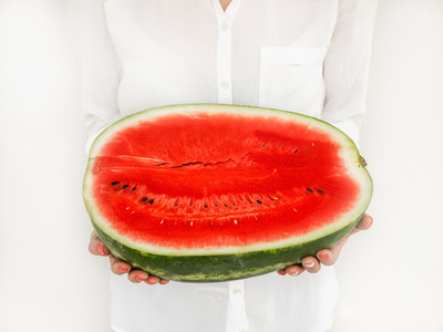 A half of a big watermelon