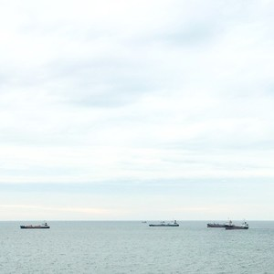 Cargo ship and fishing boat