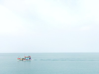 Fishing boat in ocean