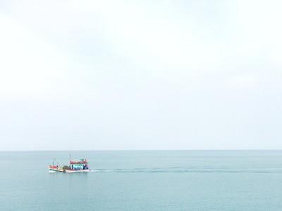 Fishing boat in ocean