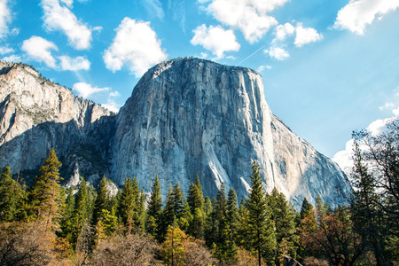 View of El Capitan and Half Dome