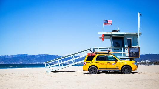Lifeguard Car on Beach