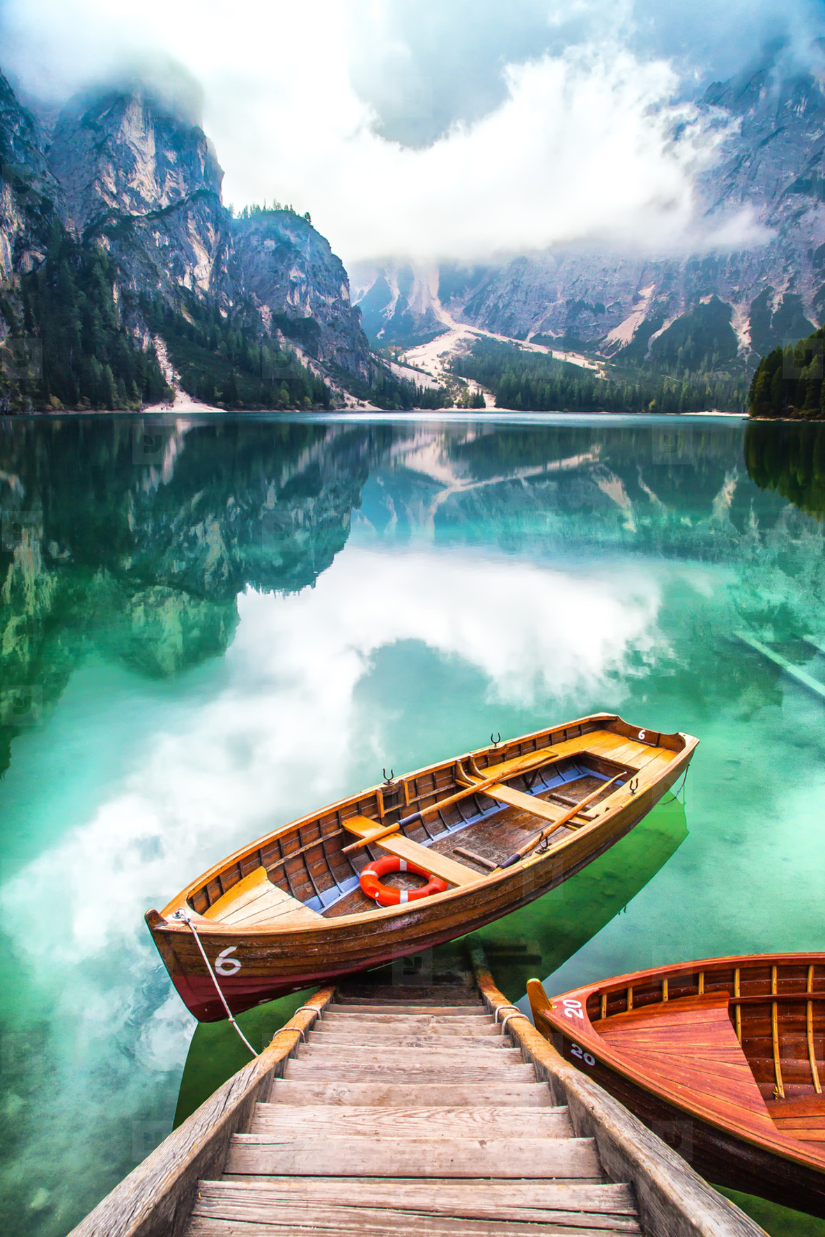 Boat on Lake Braies