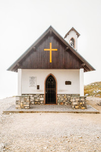 Little church in Dolomites