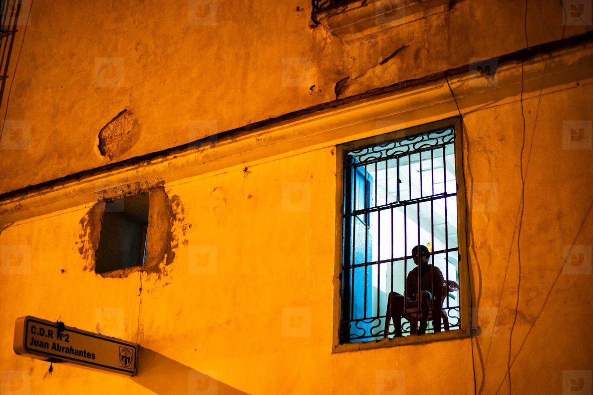 Little boy at window