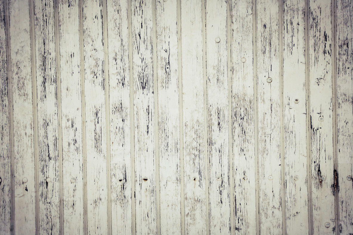 white weathered wood floor