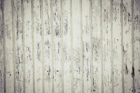 white weathered wood floor