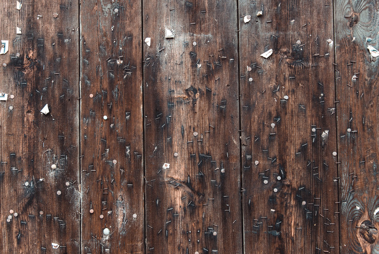 dark brown weathered wood floor