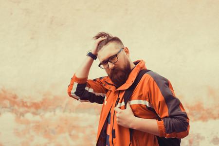 Beard hipster man