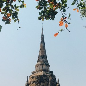 Old pagoda with blue sky