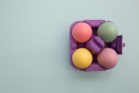Easter eggs in box