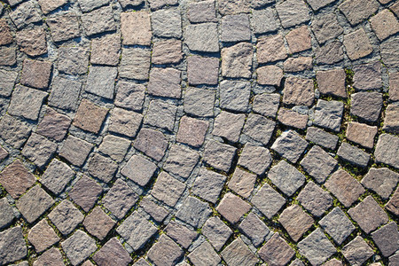 Detail of cobblestone path