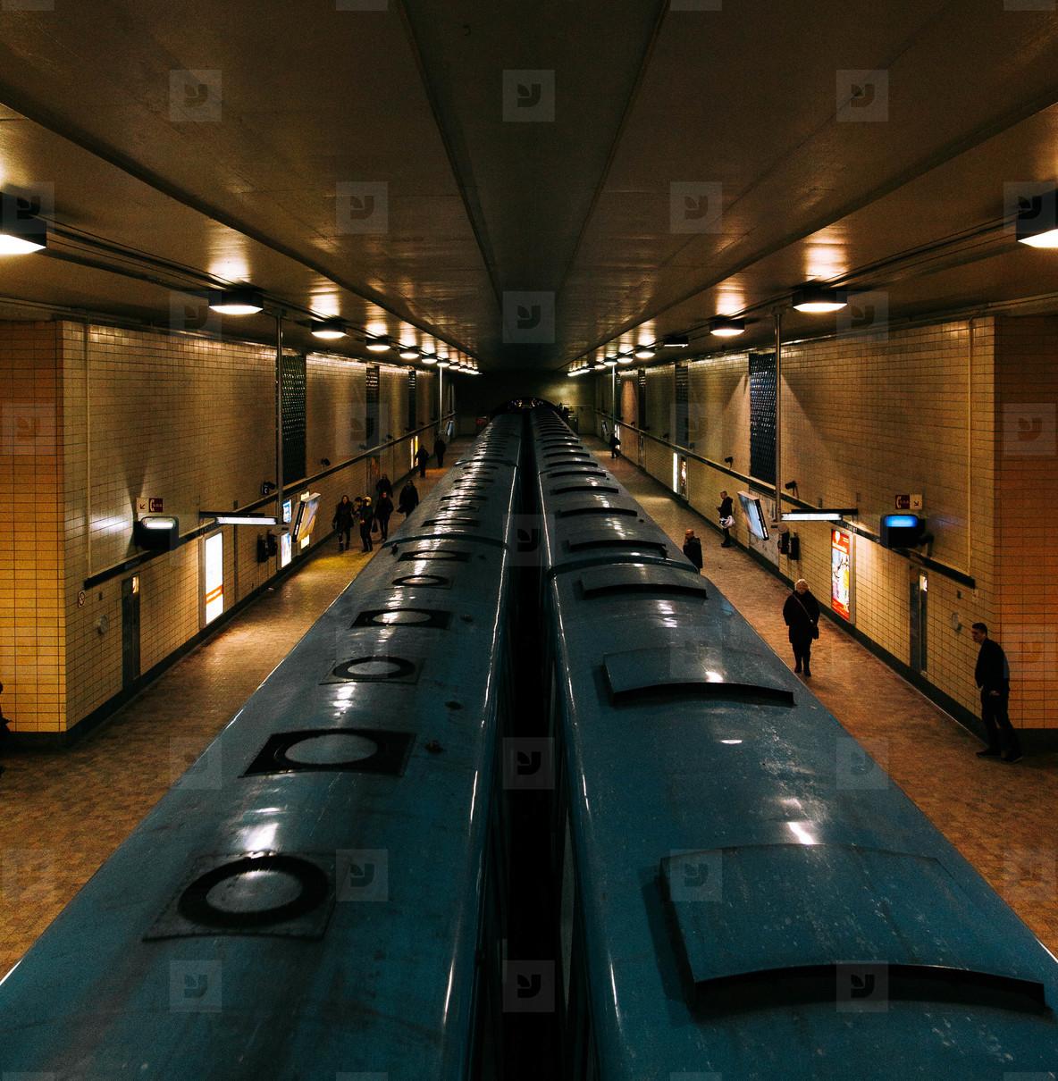Subway station in Paris  01