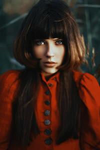 Girl in Scarlet Dress