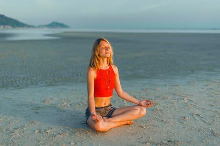 beauty yoga woman