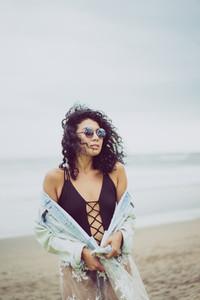 Beautiful girl in a swimsuit