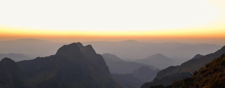Sunrise in mountain