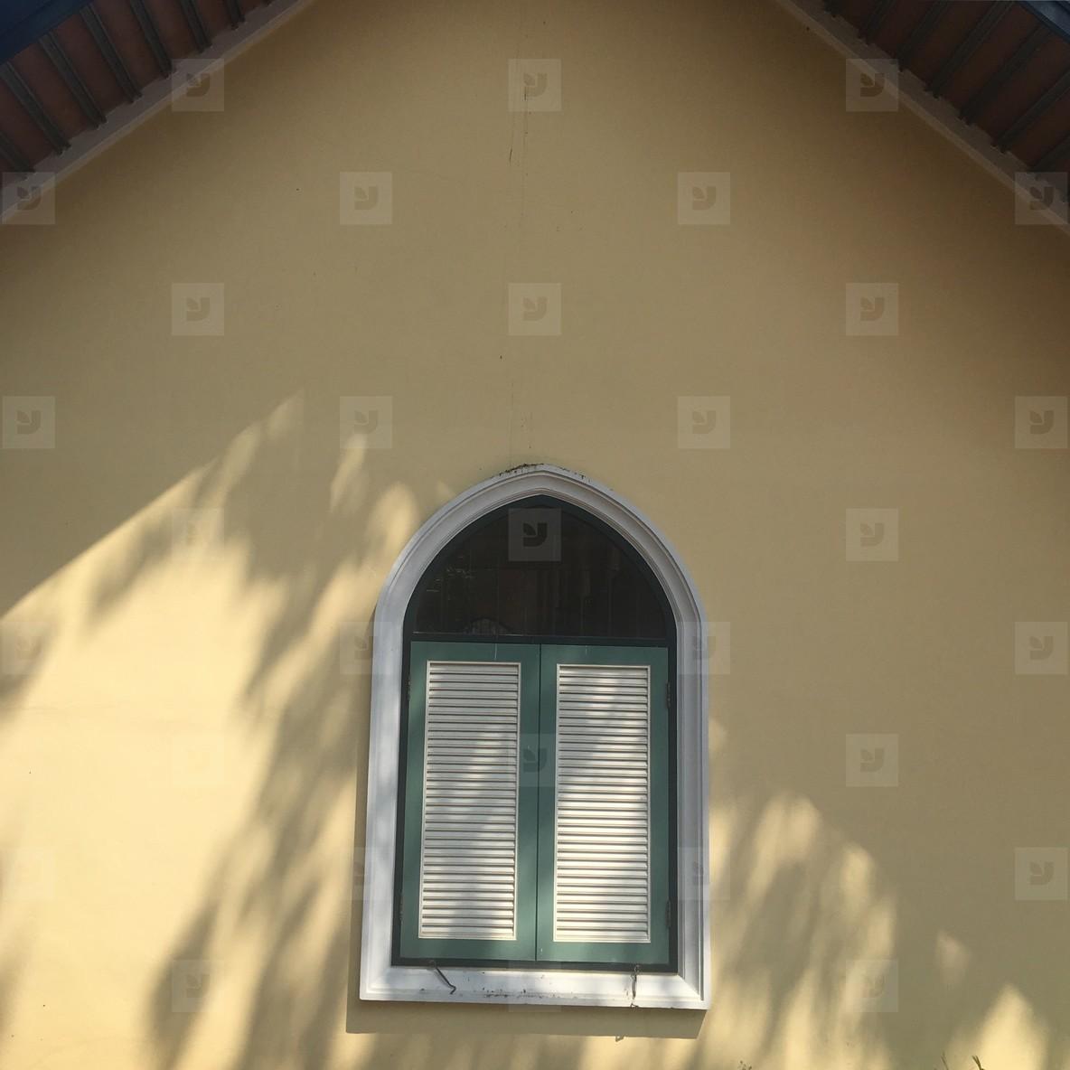 Wooden church window