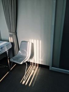 Chair under shadow