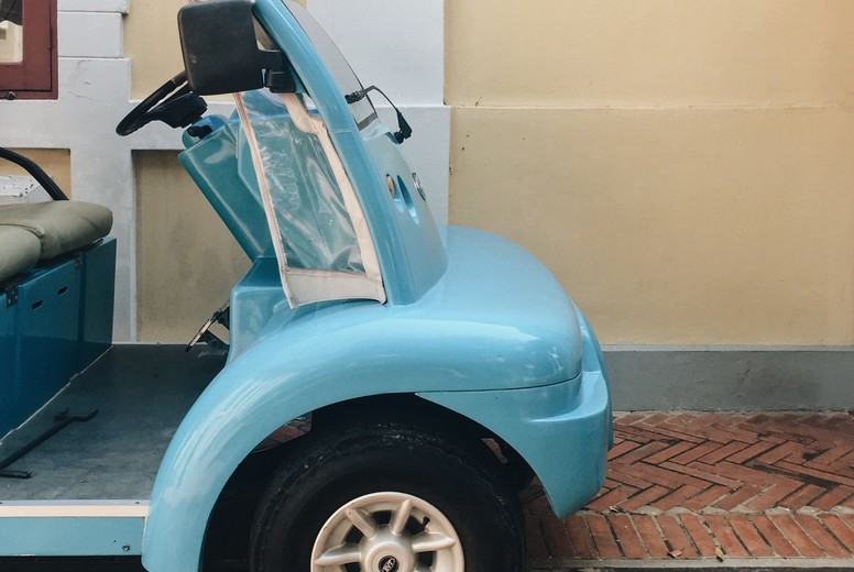 Blue Golf Cart