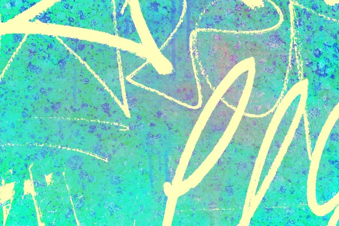 Abstract Colour Graffiti