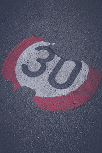 road speed warning 30mph