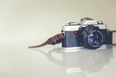 vintage analog reflex camera