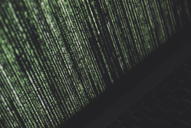 binary code cyberspace