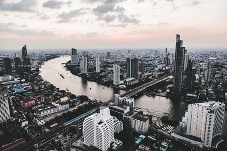 Aerial view of Bangkok 01
