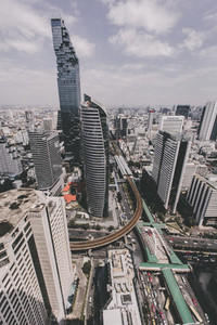 Aerial view of Bangkok  02