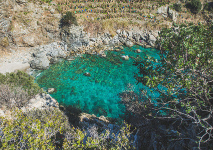 Scenic view of beautiful sea lagoon with turquoise water Turkey