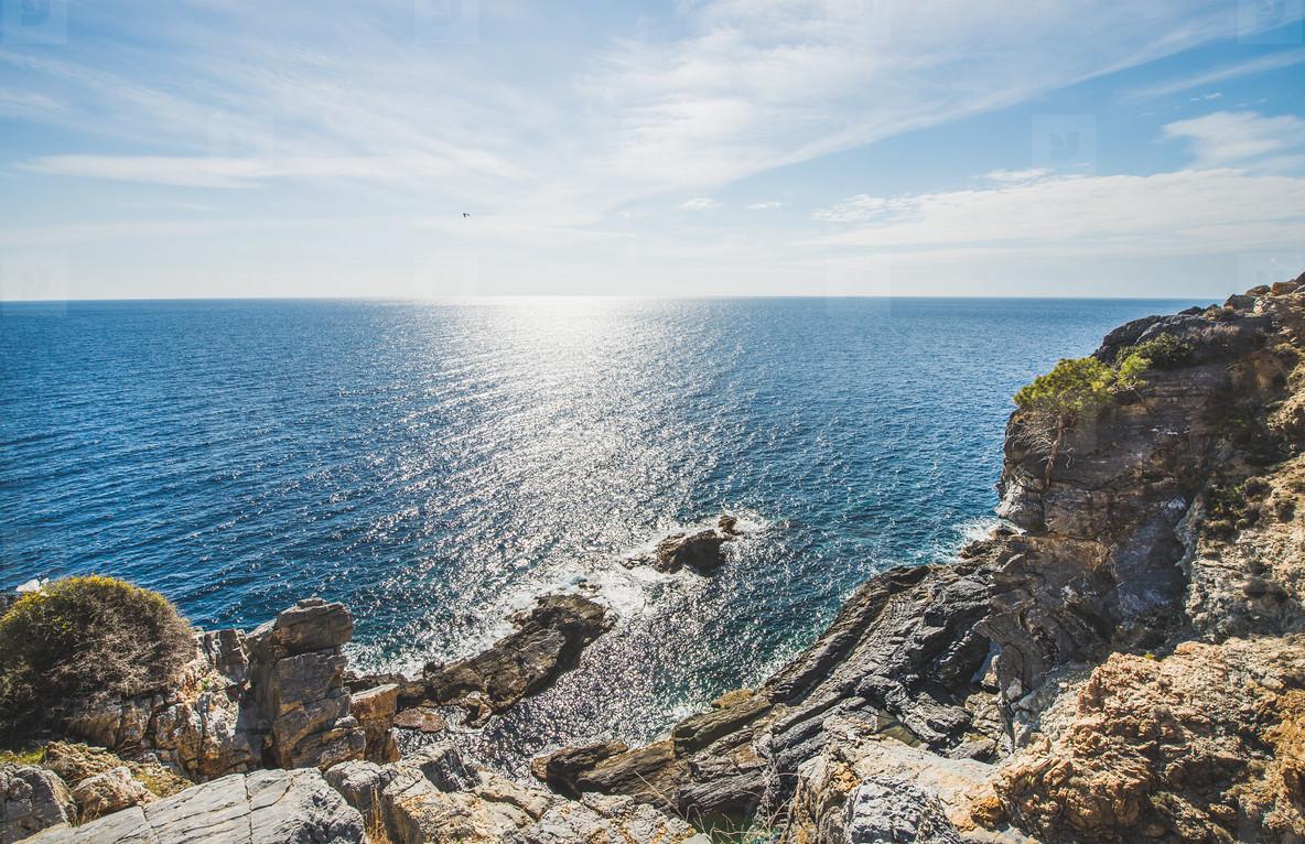 Beautiful scenery over natural rocks and sea  Turkey