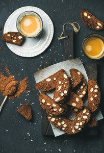 Espresso with Dark chocolate and sea salt Biscotti